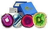 Set von 4 Achat Untersetzer verschiedene Farben (Gemischt)