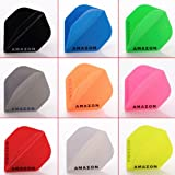 5 x gemischt Sets of Amazon Solid Colours Dart Flights Standard Form
