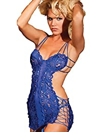 Shirley of Hollywood Nuisette à Armatures et String - Bleu Roi 25246blu