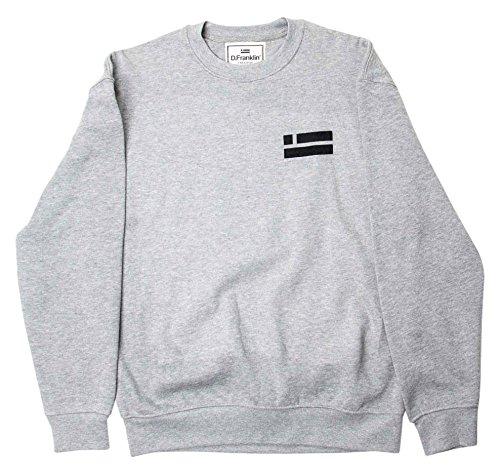 D.Franklin Sweatshirt Mountain Club Gris, Felpa Donna, Grigio, M