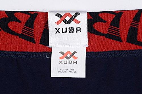 Xuba Herren Boxershort Baumwolle Unterwäsche Unterhosen Boxer Briefs Trunks Hipster Sexy Low Rise Retroshort S M L XL Dunkelblau