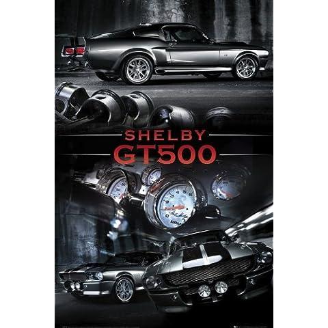 Póster Ford Shelby - Mustang gt, (61 x 91,5 cm), Las mejores fotografías con colores brillantes. Calidad garantizada., 61 x 91,5