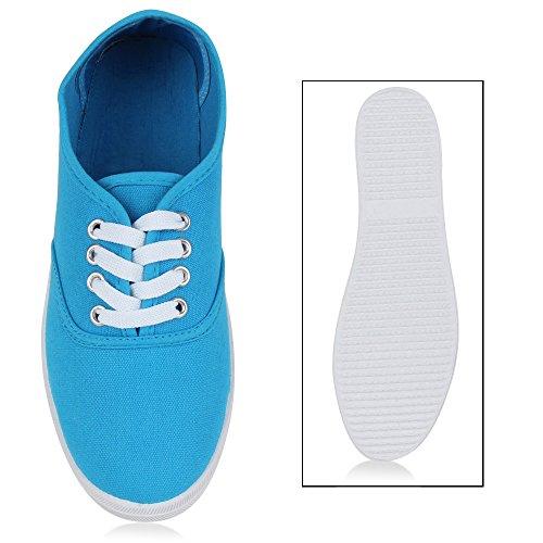 Herren Damen Unisex Sneakers Low Freizeit Turnschuhe Schuhe Bequem Blau m6bykC