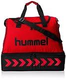 Hummel Erwachsene Tasche Authentic Soccer, True Red/Black, 54 x 44 x 32 cm, 76 Liter, 40-959-3081