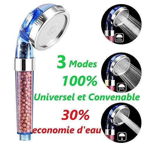 Filtros de ducha 6 packs iones negativos de bolas de mineral activo filtro i/ónico cabezal de ducha purifica el agua de la ducha que rejuvenece la piel y el cabello
