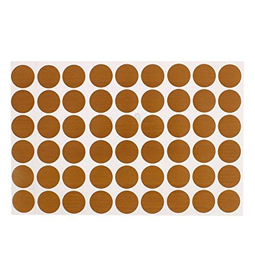 Sourcingmap® Patin Pied de Meuble en Plastique décor Sticker Autocollant Bouchons à vis Housses 21mm Dia 54 en 1