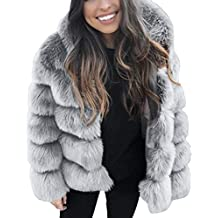 Btruely Herren Chaqueta Suéter Abrigo Jersey Mujer, Abrigos de visón de Las Mujeres con Capucha