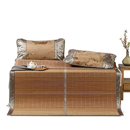 Bambus Matratzen Bettmatte Bambus Matratzen Sommer-Schlafmatten Strohmatte Teppiche Karbonisierung Geeignet Für Zuhause Schlafzimmer Gefaltet, 1,5/1,8 M (Size : 1.8x2.0m) (Bambus 5x8 Teppich)