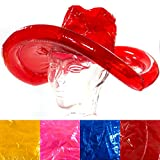 Aufblasbarer Cowboy- Hut, 4 Farben- Rot Blau Pink Gelb, Cowboyhut, Karneval, Party, Junggesellenabschied (pink)