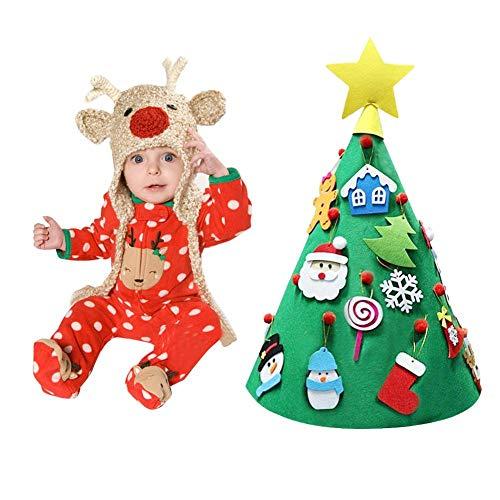 Albero di natale in feltro per bambini kit di artigianato natalizio in feltro 3d fai-da-te kit di ornamenti per albero di natale fatto a mano per la decorazione della