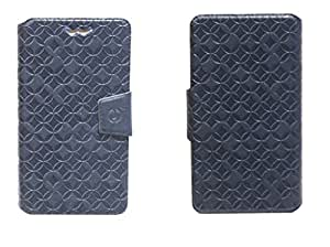 J Cover Vachetta Series Leather Pouch Flip Case With Silicon Holder For Samsung Galaxy Core I8260 Blue