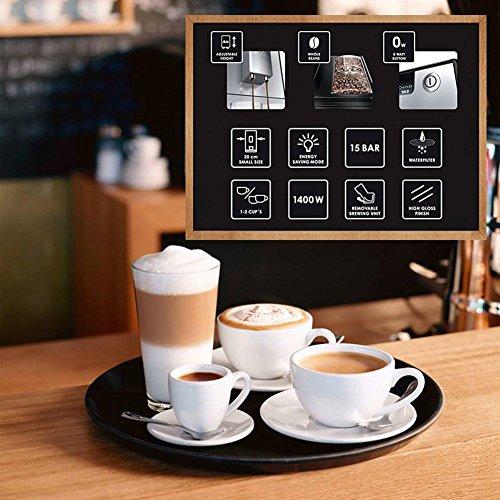 Melitta E 950-103 Caffeo Solo Macchina per Caffé Automatica, 2 Cups, Plastica, Argento/Nero