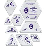 Marti Michell Patchwork Template-Set G - Small Hexagon Set 9/Pkg