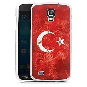 Samsung Galaxy S4 Active Hülle Silikon Case Schutz Cover Türkiye Türkei Flagge