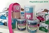 Verschiedene SPAR-SETS 2er bis 12er! ORIGINAL NASARA Kinesiologisches Physio Sport Tape in praktischer Box / Tape für Sport und Medizin Markenqualität von Nasara - 5cm x 5m (1x Blau 1x Pink, 2er Sparset 5cmx5m in Kinesio-Box)