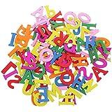 Gazechimp 100 Piezas Botones Decorativo de Costura de Madera Coloridos Diseño de Letras para Scrapbooking