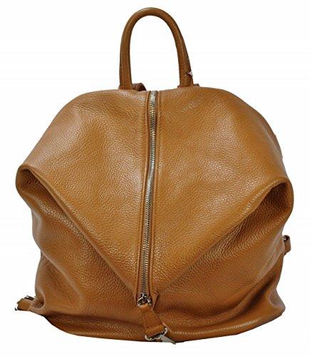 BZNA Bag Mara Cognac Backpacker Designer Rucksack Ledertasche amenhandtasche Schultertasche LederItalyNeu