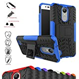 LG K8 2017 / LG K4 2017 / LG Rebel 2 / LG Phoenix 3 / LG Fortune / LG Risio 2 / LG Aristo / LG X300 / LG LV1 Case,Mama Mouth Shockproof Heavy Duty Combo Hybrid Rugged Dual Layer Grip Cover with Kickstand For LG K8 2017 / LG K4 2017 / LG Rebel 2 / LG Phoenix 3 / LG Fortune / LG Risio 2 / LG Aristo / LG X300 / LG LV1(5.0 inch) Smartphone(With 4 in 1 Free Gift Packaged),Blue