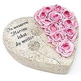 Grabherz Rosen, In unseren Herzen lebst du weiter. 19cm. 1 Stück