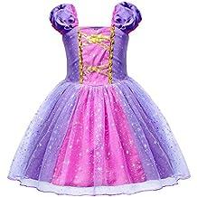 AmzBarley Vestido Niña Princesa Ceremonia Tutu Tul a158d4463fe9
