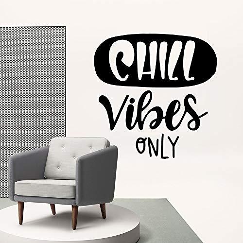 HNXDP Exquisite Chill Vibes Wandsticker Pvc Abnehmbare Vinyl Aufkleber Für Büroraum Dekoration Zubehör Wohnzimmer Dekor Schwarz L 28 cm X 28 cm