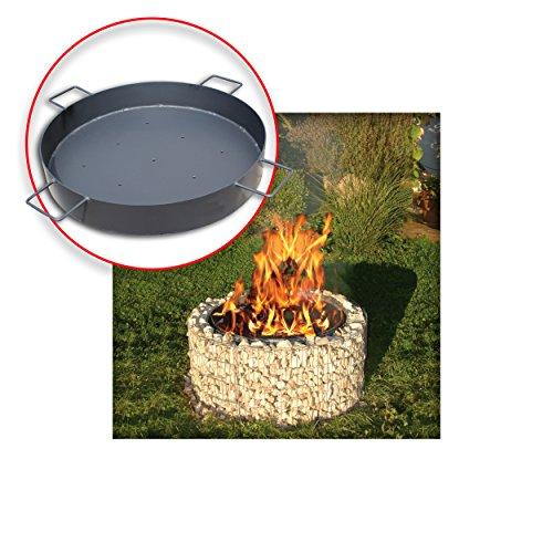 Bellissa Gabionen Feuer- und Grillstelle inkl.Kohleschale Ø 92/72 cm ideal für einen Galgengrill