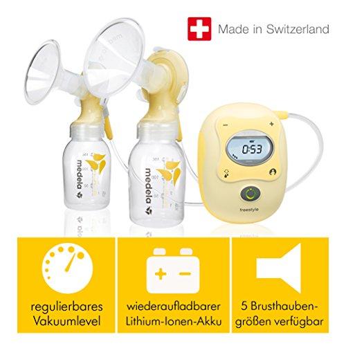 Milchpumpe Medela Freestyle - elektrische Doppel-Milchpumpe, Schweizer Medizinprodukt - 8