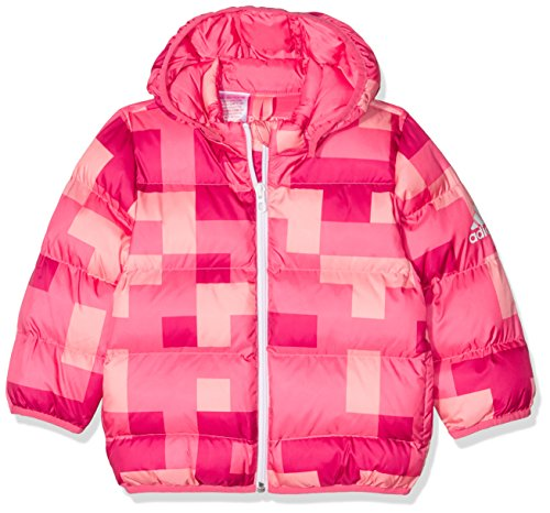 adidas Mädchen Baby Faux Jacke, Bahia Pink S14/Bold Pink/Ray Pink, 92
