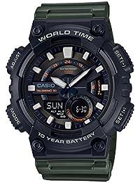 Casio Youth Combination Analog-Digital Black Dial Men's Watch - AEQ-110W-3AVDF (AD223)