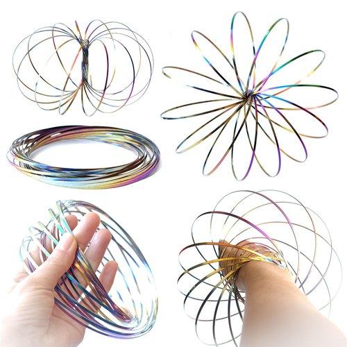 art decor Magic Ring, Farbe Rainbow, 3D Skulptur, Geschenk für Kinder und Erwachsene