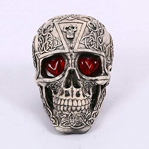 BAI-Light Halloween Prop lebensechte Menschliche Schädel Kopf Skelett - Leben Größe Skelett Halloween