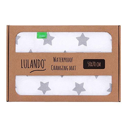 Preisvergleich Produktbild LULANDO Wasserdichte Baby Wickelunterlage Wickelmatte (50x70 cm). Praktische Wickelauflage Bettunterlage Reisematte, vielseitig einsetzbar. Mit dem Standard 100 von Öko-Tex.