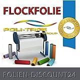 FLOCKFOLIE TbT 780 ANTHRAZIT BÜGELFOLIE TOP ! Preistip Flex Flock 1 M x 50 cm POLITAPE
