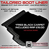 Boot Liner Mat Tray with  Velour Insert - with regular spare tyre or tyre inflation kit