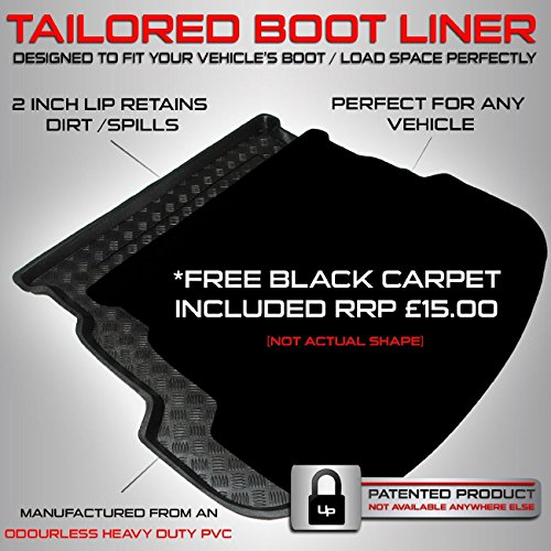 Renault Captur (2013 Onwards) - - Boot Liner Mat Tray with  Velour Insert