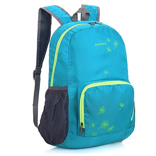Lockerer Rucksack Outdoor Sport leisure wasserdicht tragbar Klettern Reisen Reiten Pack Business Student Tasche 5 Farben H46 x L35 x T18 cm Sky Blue