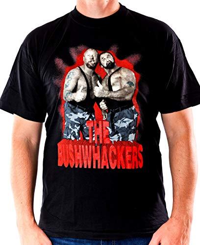 T-Shirt The Bushwhackers WWF Wrestling schwarz Größe L Baumwolle Siebdruck