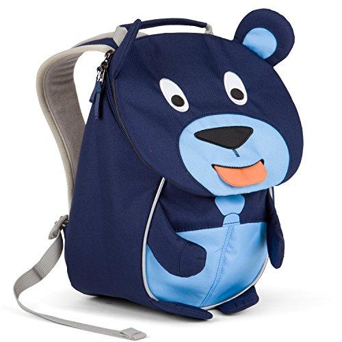 Kinderrucksack mit Brustgurt für 1-3 jährige Jungen und Mädchen im Kindergarten oder Kita der kleine Freund Bobo Bär - Blau