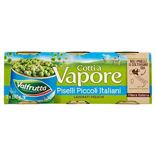 Valfrutta Piselli Piccoli Cotti Vapore 3 Pezzi x 150 gr