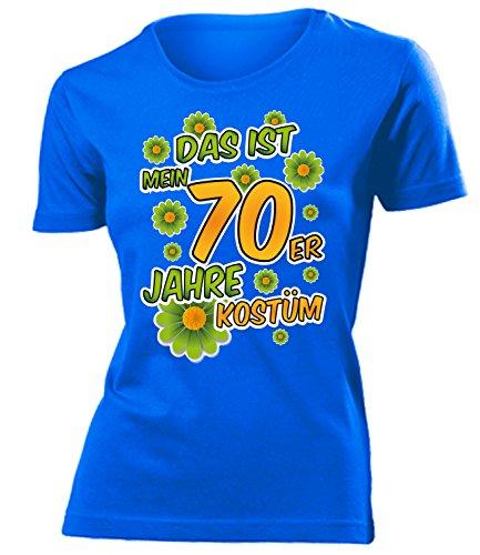 70er Jahre Kostüm Frauen T-Shirt Karneval Fasching Motto Schlager Party Geschenke Schlagertshirt Kleid Kleidung Schlagerhemd Schlagerfanartikel (70er Jahre Motto Kostüme Ideen)