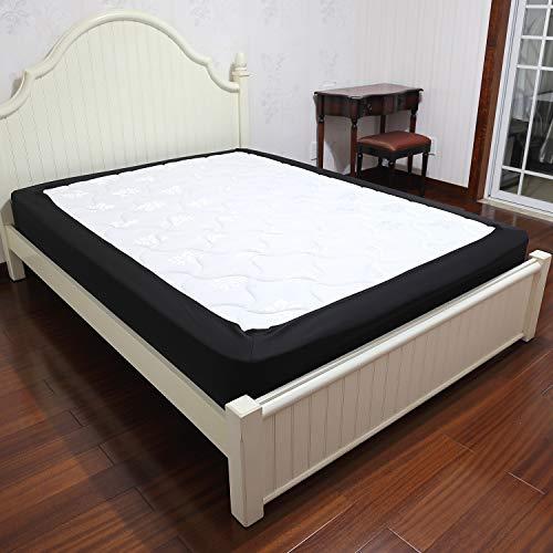 Barossa Design Box Spring Cover Farben und Größen Queen schwarz -