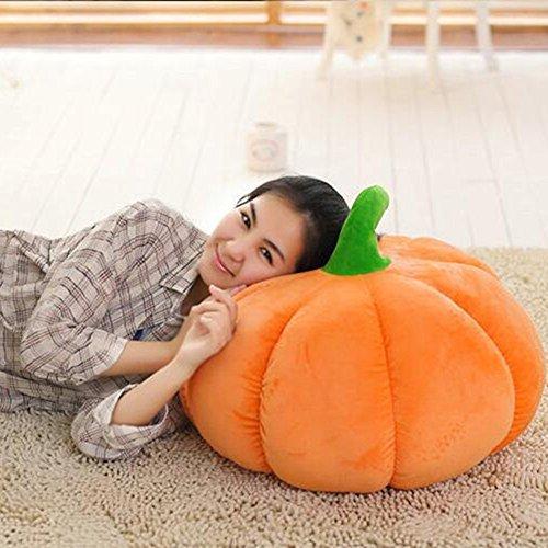 XINAINI Halloween KüRbis Kissen,PlüSchtier Puppe Orange Runde,Weiche PlüSch Spielzeug,Sofakissen Stofftier Puppen FüR Dekoration Baby\'s Geschenk
