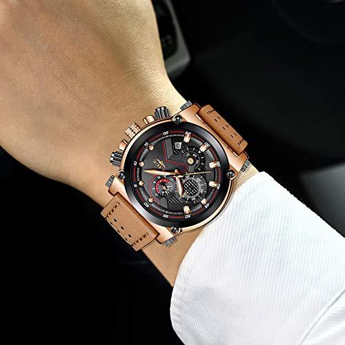 b0c97a8d3699 Relojes Hombre Relojes de Pulsera Marea Cronometro Impermeable Fecha  Calendario Analogicos Cuarzo Relojes de Hombre Deportivo