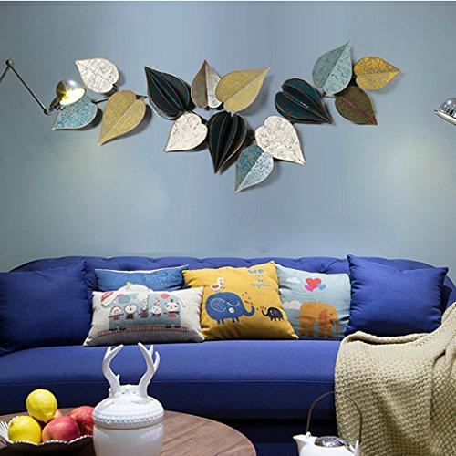 Schmiedeeisen Blatt Wand (Shelf Retro-Stil, Eisenkunst Dreidimensionale Modellierung Wanddekoration, Kreativität Hintergrund Wand Blätter Dekoration (größe : Type B 110 * 42 cm))