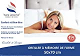 Oreiller mémoire de forme ULTRA MOELLEUX 50x70 cm - Yves Laroche