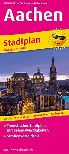 Aachen: Touristischer Stadtplan mit Sehenswürdigkeiten und Straßenverzeichnis. 1:14000 (Stadtplan / SP)