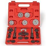 TecTake Dispositif de remise à zéro coffret repousse-piston pour étrier de frein Set 22 pièces avec 2 bobines avec mallette en rouge
