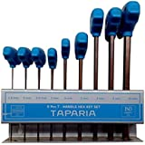 Taparia TAKM9 Steel Handle Allen Key Set (Multicolour, 9-Pieces)