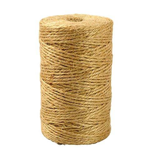 Topker 2mm 150M Länge Natürliche Jute Twine Thick String 3Ply Seil DIY Kunsthandwerk Dekoration Bündelung -
