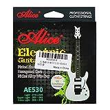 Alice corde per chitarra elettrica con corde di acciaio esagonale Core con sfera end-light .010'-.046